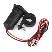 Motorcycle Double USB 12 - 24V Waterproof Car Charger with Adapter Cable