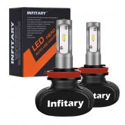 2PCS Infitary  H11 LED Headlight Bulbs Auto Headlamp Single Beam 50W 8000LM