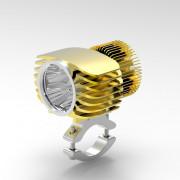 BOSMAA Motorcycle LED Headlight Spotlight 18W 2700LM Motor Car Fog Light DRL