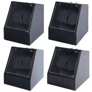 Auto Silent Watch Winder  Irregular Shape Transparent Cover Wristwatch Box with EU Plug