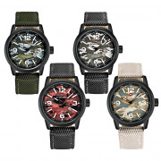 Naviforce 9080 Men Quartz Watch Luminous Calendar 3ATM Camouflage Pattern Dial Wristwatch