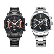 MEGIR 3016 Male Quartz Watch Chronograph 24 Hours Display Luminous Date Wristwatch