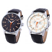 JARAGAR F120550 Male Auto Mechanical Watch Three Working Sub-dials Date Day Display Wristwatch