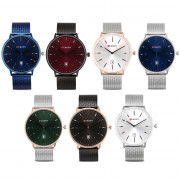 CURREN 8302 Male Quartz Watch Date Display Ultra-thin Dial
