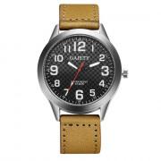 GAIETY Men's Arabic Numerals Round Case Leather Band Watch G001