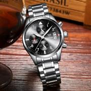 CADISEN C2013 Men Fashion Classic Multi-Function Stainless Steel Strap Waterproof Watch