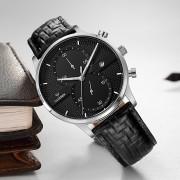 CADISEN Men Watches Top Brand Luxury Fashion Business Quartz Watch Sport Leather Waterproof Wristwatch