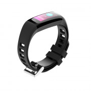 G16 Color Screen Smart Band Pedometer Heart Rate Blood Pressure Calorie Step Monitoring  Fitness Bracelet BLACK