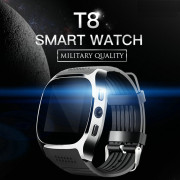 T8 Bluetooth Smart Watch Smart Watch With Camera Facebook Whatsapp Support SIM TF Card Call Smartwatch For Android BLACK