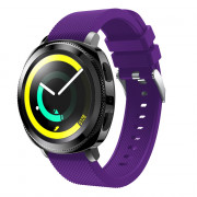 20mm for Samsung Gear Sport Silicone Rubber Wrist Band Strap PURPLE HAZE