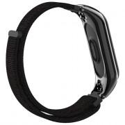 Fashion Canvas Replacement Wrist Band Strap for Xiaomi Mi Band 3 BLACK