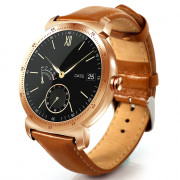 CACGO K88H Plus Smart Bracelet 1.3 inch MTK2502C-ARM7 64MB RAM 128MB ROM Heart Rate Monitor IP54 Waterproof Step Count Sedentary Reminder 300mAh Built-in ROSE GOLD LEATHER BAND