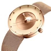 BIDEN 0078 Simplicity Men Analog Stainless Steel Watch Ba Top Clock Quartz Watch ROSE GOLD