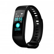 Blood Pressure Heart Rate Monitoring IP67 Waterproofing Screen Smart Watch BLACK