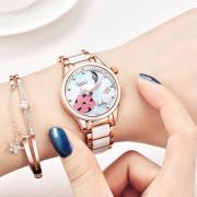 Nesun LS9073 Ceramics Steel Band Women Automatic Mechanical Watch ROSE GOLD