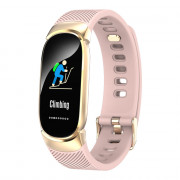 Qw16 Smart Bracelet Continuous Heart Rate Sleep Monitoring Step PINK