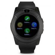 V8 HD IPS Screen Smart Watch Health Sleep Sports Monitoring BLACK
