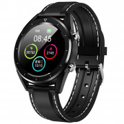 NO.1 DT28 Smart Watch 1.54 inch Nordic NRF52832 64KB RAM 512KB ROM Heart Rate Monitor Step Count Sedentary Reminder IP68 230mAh Built-in BLACK SILICONE STRIP