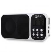 HJ - 92 Mini Digital Media Portable FM Radio Speaker MP3 Player with TF Card Slot AUX Audio Input