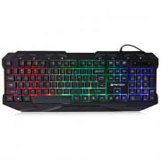 FANTECH K10 Professional USB Wired Colorful Backlight Gaming Keyboard