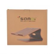 SAMDI Wooden Laptop Holder Wood Radiator Stand Support Desk for MacBook iPad Notebook Computer