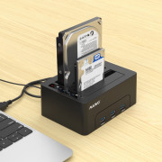 Maiwo K3082h Usb3.0 To Sata Dual Bay Hard Drive Docking Station with 3-PORT Usb3.0 Hub for 2.5/3.5INCH Sata I/Ii/Iii Hdd/Ssd Offline Clone Support 2X 10TB And Uasp