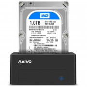 Maiwo K308new 5GBPS Usb 3.0 To Sata Hard Drive Docking Station for 2.5 / 3.5 Inch Sata Hdd Black