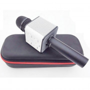 Portable Wireless Karaoke KTV Microphone Mic Handheld Condenser Microphone with Wireless Bluetooth Speaker Singing Stere