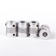 FLSUN 4PCS/LOT 3D Printer Accessories 5X8X25MM Z Axis Aluminum Flexible Shaft Coupling for Nema 17 Stepper Motor and 8MM