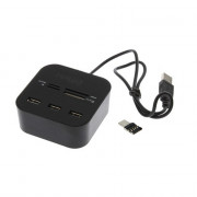 Cwxuan 2-in-1 USB 3.1 Type-C, USB 2.0 to 3-port USB HUB with Card Reader