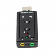 7.1 External USB Sound Card USB to Jack 3.5mm Headphone Audio Adapter