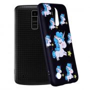 For LG K10 2017 American   Unicorn Pattern Soft TPU Phone Case