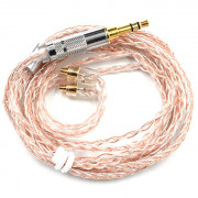 KZ Copper and Silver Hybrid Plating Upgrade Line Earphone Cable for KZ ZST ZS10 / ES3 / ES4 / AS10 / BA10 / ZS6 / ZS5 / ZS4 Earbuds