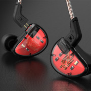 KZ AS10 5BA HiFi Stereo In-ear Earphone High Resolution Earbuds with 0.75mm 2 Pin Cable Five Balanced Armature Driver