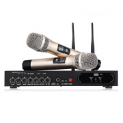 MU - 6S Wireless Handheld Microphone UHF Dual Channel