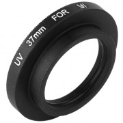 37mm Glass UV Filter Lens + Protective Cap with Connect Adapter for Yi Action Camera