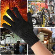 Pair of High Strength Polyester Cut-resistant Safety Gloves