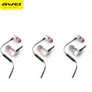 AWEI ES - 20TY 3.5MM Plug Foldable Wired Stereo HiFi Music Earphones Headphones