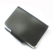 Leather Case Sleeve Two Sided 24 Holders for Bank Credit Card