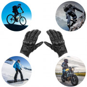 Pair of Leather Motorcycle Racing Gloves Cycling Handwear