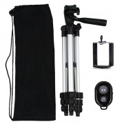 With Remote Control 3110 Tripod Stand 4-SECTION Lightweight Portable Mini Trip