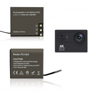 Dual Charger Dock with 2pcs 1050mAh Batteries for 4K Action Camera