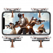 T10 Mobile Game Stimulating Battlefield Four-finger Linkage Shooting Fire Assist Button 2pcs