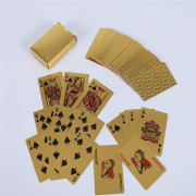 Waterproof Gold Foil Playing Card Advertising Poker Handicraft
