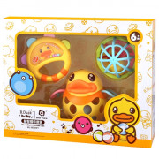 B.DUCK WL - BD097 Baby Puzzle Rattle Hand Ball Set