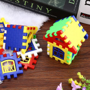 Plastic House DIY Building Blocks Intelligent Developmental Construction Toy for Children