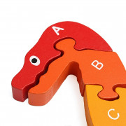 3D Wooden Winding Animals Cognition Jigsaw Puzzle Toy