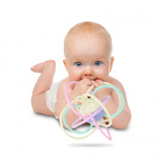 LD0518 Teeth Rubber Molar Stick Baby Hand Grip Ball Silicone Toy