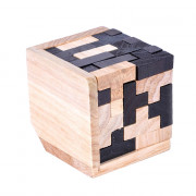 3D Wooden  Toy Brain Teaser Geometric T Shape Matching Jigsaw Puzzle
