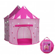 Princess Castle with Glow Dark Stars Conveniently Folds Tent Toy